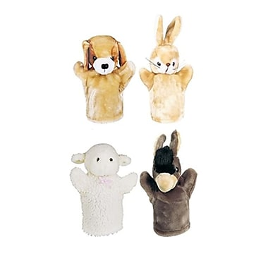 Get Ready Kids Farm Puppet Set Ii Inlcudes Puppy lamb Donkey And Bunny (EDRE32564)