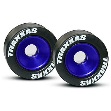 Traxxas Blue Aluminum Wheels-Tires for Wheelie Bar (RCHOB1075)