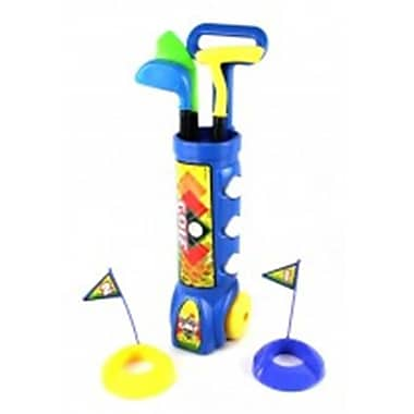 Az Import and Trading Deluxe Kids Happy Golfer Toy Golf Set - Blue (AZIMPT02413)