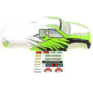 Redcat Racing Truck Body, White and Green (RCR03175)