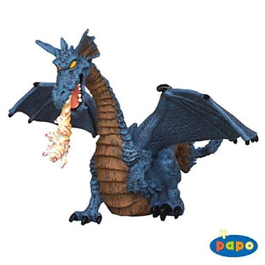 Papo Winged Blue Dragon with Fire Pack of 5 (HOT268)