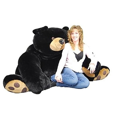 Purr-Fection 90 Inch Jumbo Java Plush Black Bear (PRRF065)