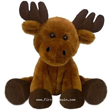 First and Main 7 in. Sitting Floppy Friends Moose Plush Toy (RTl226020)