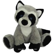 First and Main 7 in. Sitting Floppy Friends Raccoon Plush Toy (RTl226029)