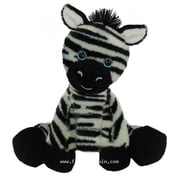 First and Main 7 in. Sitting Floppy Friends Zebra Plush Toy (RTl226028)