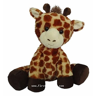 First and Main 7 in. Sitting Floppy Friends Giraffe Plush Toy (RTl226025)