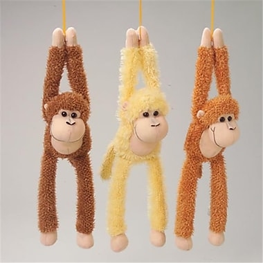 US Toy Company Monkeys W/Hook Eye Adhesive Hands (2 Packs Of 12)