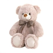 Home locomotion Beige Bear With Bow Plush 18' (SWM12522)