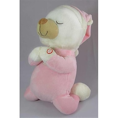 Swanson Christian Supply Toy Plush Plush Pal Praying Bear With Sound Pink 12 In. (ANCRD19972)
