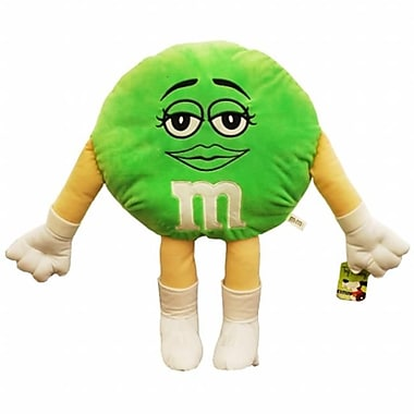 Toy Factory 20 in. Plush Green MandM Pillow (GRPS848)