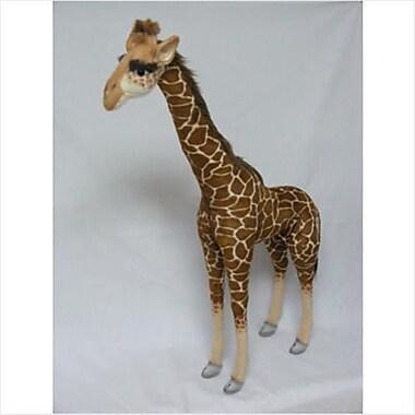 Hansa Toys Ride On Giraffe - Brown (HANS003)