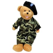 Chantilly lane 19 In. American Hero Army Bear Sings Army Goes Rolling Along Toy (PINTR027)