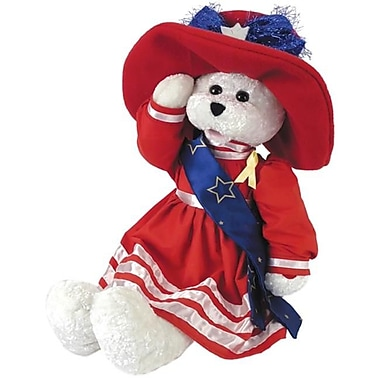 Chantilly lane 19 In. Betsy Patriotic Bear Sings God Bless America Toy (PINTR023)