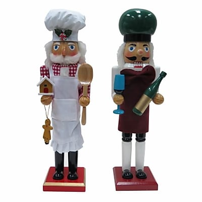 Danson Hong Kong xDHK32003MOD1 15 in. Chef Novelty Wood Nutcracker (TRVAl81650) 2628388