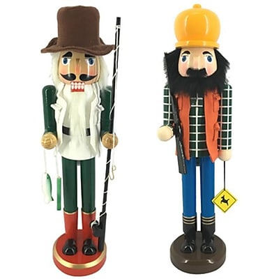 Danson Hong Kong xDHK32525MOD1 15 in. Fish and Hunt Nutcracker (TRVAl81655) 2628386