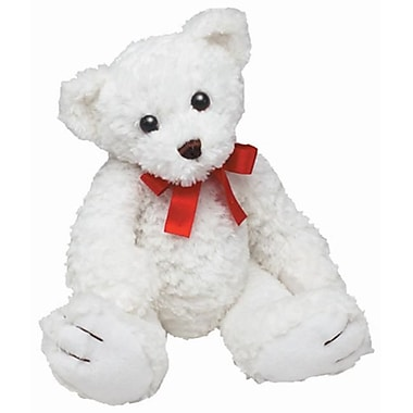 First and Main Inc. White Stuffed Teddy Bear (FSTMN093)
