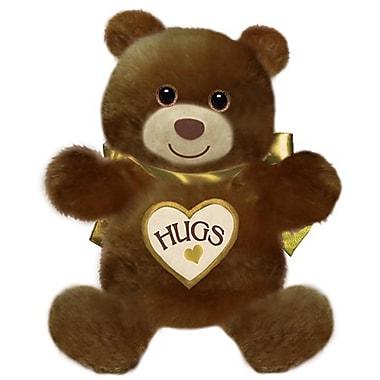 First and Main 15 in. Sitting Hugsie Bear - Dark Brown (FSTMN5399)