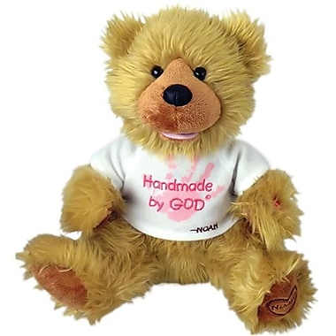 Chantilly lane 12 In. Noah Bear Hand Made By God Bear With Pink Shirt Toy (PINTR010)