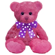 First and Main 10 in. Sitting Sorbet Bear - Hot Pink (FSTMN5415)