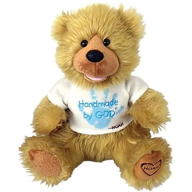 Chantilly lane 12 In. Noah Bear Hand Made By God Bear With Blue Shirt Toy (PINTR009)