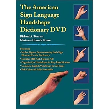 Cicso Independent The American Sign language Hand shape Dictionary DVD (HRSC004)