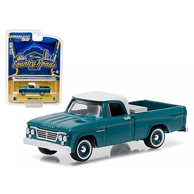 Greenlight 1963 Dodge D-100 with Toolbox Pickup Truck Country Roads Series 14 1-64 Diecast Model (DTDP1462)