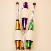 Zeekio Pegasus Juggling Clubs, Purple, Green And Gold, Set - 3 (YYSM041)