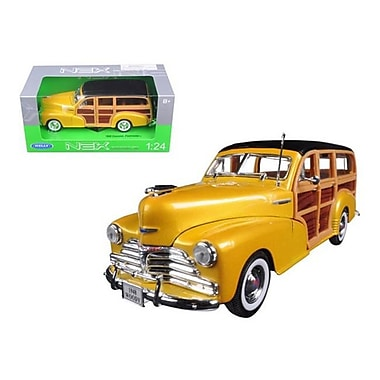 Welly 1948 Chevrolet Woody Wagon Fleetmaster Gold 1-24 Diecast Model Car (DTDP1158)
