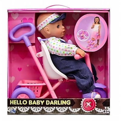 KS Toys Baby Darling with Tricycle Play