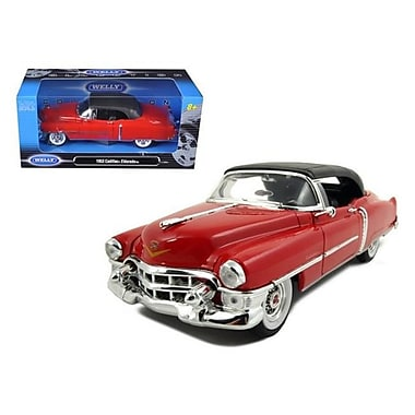 Welly 1953 Cadillac Eldorado Soft Top Red Diecast Car Model 1-24 Die Cast Car (DTDP1170)
