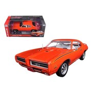 Autoworld 1969 Pontiac GTO Judge Orange limited Edition to 1002 Piece 1-18 Diecast Car Model (DTDP1714)