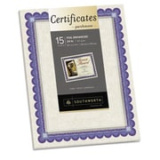 Southworth 8.5 x 11 Foil-Enhanced Parchment Certificates, Ivory, Blue and Silver (AZTY14743)