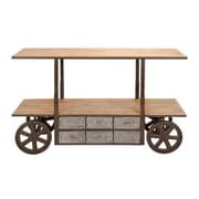 A nation Reclaim Metal Wood Storage Cart 63 in. W 38 in. H (WlMGC4073)
