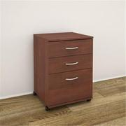 MFINexeraDistribution Essentials 3-Drawer Mobile Filing Cabinet, Moka (NxR050)
