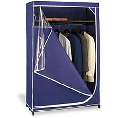 Organize It All Deluxe Storage Wardrobe in Navy with White Trim (NUEH169)