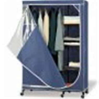 Organize It All Storage Armoire in Navy with White Trim (NUEH170)