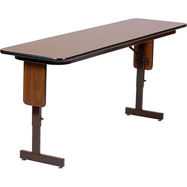 Correll Adjustable Height 0.75 in. High Pressure Folding Seminar Table With Panel leg - 18 x 72 in. - Fusion Maple (CORR2692)