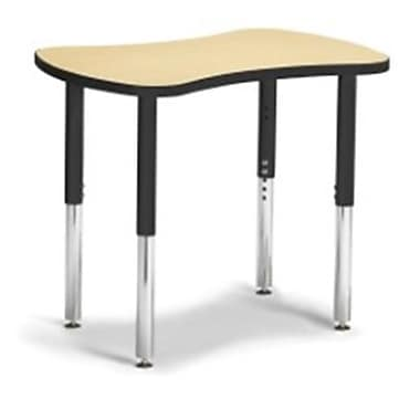 Berries Collaborative Bowtie Table, Maple and Black - 24 x 35 in. (JNTC22751)