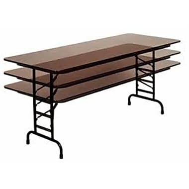 Correll Adjustable Height 0.75 in. High Pressure Top Folding Table, 24 x 72 in. - Fusion Maple (CORR2532)