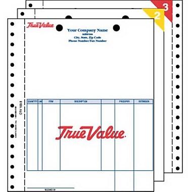 Centurion CTV 103-3 3-Part Carbonless Tru-Trac Retail Invoice - 1000 Pack (TRVAl59385)