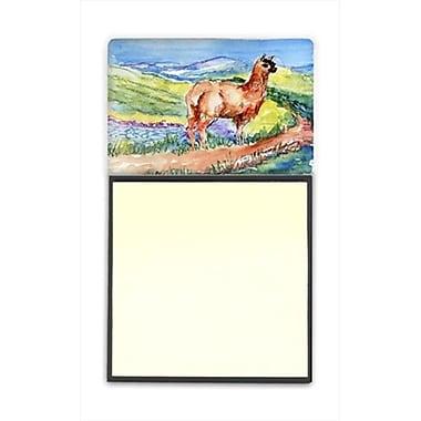 Carolines Treasures llama Refiillable Sticky Note Holder or Postit Note Dispenser, 3 x 3 In. (CRlT60235)