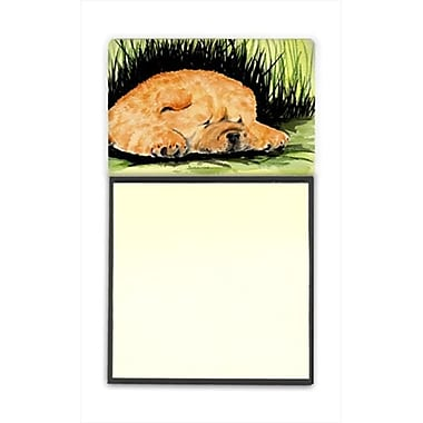 Carolines Treasures Chow Chow Refiillable Sticky Note Holder or Postit Note Dispenser, 3 x 3 In. (CRlT60296)