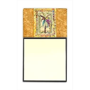 Carolines Treasures Palm Tree Refiillable Sticky Note Holder or Postit Note Dispenser, 3 x 3 In. (CRlT60126)