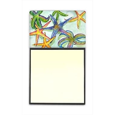 Carolines Treasures Starfish Refiillable Sticky Note Holder or Postit Note Dispenser, 3 x 3 In. (CRlT60115)