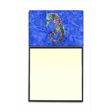 Carolines Treasures Seahorse Refiillable Sticky Note Holder or Postit Note Dispenser, 3 x 3 In. (CRlT60132)