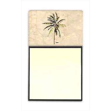 Carolines Treasures Palm Tree Refiillable Sticky Note Holder or Postit Note Dispenser, 3 x 3 In. (CRlT60098)