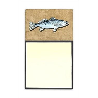Carolines Treasures Speckled Trout Refiillable Sticky Note Holder or Postit Note Dispenser, 3 x 3 In. (CRlT60184)