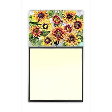 Carolines Treasures Sunflowers Refiillable Sticky Note Holder or Postit Note Dispenser, 3 x 3 In. (CRlT60172)