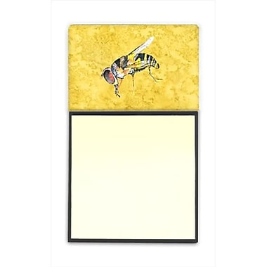 Carolines Treasures Bee on Yellow Refiillable Sticky Note Holder or Postit Note Dispenser, 3 x 3 In. (CRlT60199)