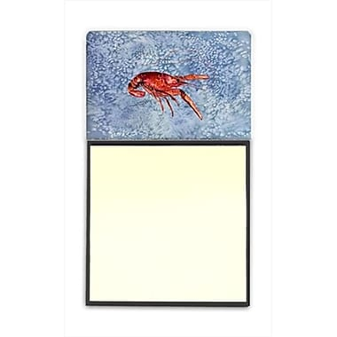 Carolines Treasures Crawfish Refiillable Sticky Note Holder or Postit Note Dispenser, 3 x 3 In. (CRlT60038)
